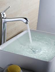 Zeitgenössisch Mittellage Einhand Ein Loch in Chrom Waschbecken Wasserhahn