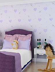 contemporary art deco wallpaper 3d bonita da parede do coração papel de parede que cobre a arte de não-tecidos da parede da tela