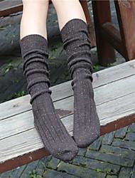 1Pairs Women's Retro Little Yarn Wool Stockings