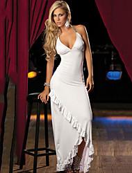 Vestidos ( Negro/Blanco , Spandex/Fibra de Leche , Ropa de Noche ) - Ropa de Noche - para Mujer
