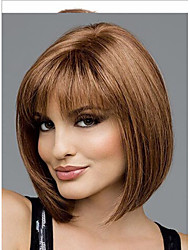 Europe And The United States  Sell Like Hot Cakes Golden Brown Side BOBO Head Short Straight Hair Wig