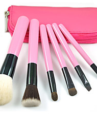 6 Makeup Brushes Set / Blush Brush / Eyeshadow Brush / Brow Brush / Powder Brush / Foundation Brush Goat HairProfessional / Travel / Full