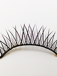 1 pares de fibra preta cílios postiços
