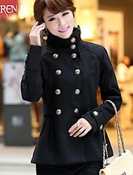 Muairen®Women'S Fashion Coat Collar Double-Breasted Waist Coat