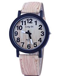 Men's Wrist watch Wood Watch Quartz Alloy Band Multi-Colored
