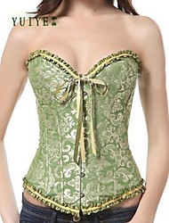 YUIYE® Satin Strapless Front Busk Closure Corsets  Sexy Lingerie Shapewear  Sexy Lingerie Corset