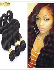 3pcs / lot madeixas de cabelo brasileiros 8-32inch cabelo de trama extensões de cabelo humano remy cabelo virgem onda do corpo tecer frete