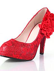 Women's Shoes Stiletto Heel Round  Toe Pumps Wedding Shoes
