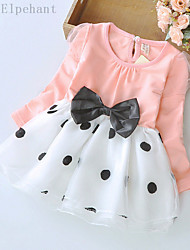 Big Elephant New Baby Girls Clothing Ball Gown Dress Kids Bow Top Outfits Sets for 3-24M D04L Pink