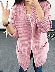 Women's Casual Long Sleeve Cardigan , Knitwear Medium
