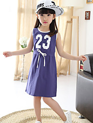 Vestito Girl Senza maniche Estate Cotone/Elastene