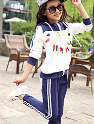 Girl's Sports Fashion Lightning Clothing Set , Winter/Fall