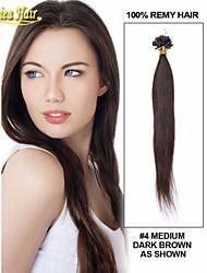 Indian Straight Virgin Hair Keratin Hair Extensions Nail Tip U Shape Hair Extensions Peruvian Malysian Human Remy Hair