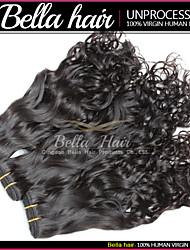 i capelli umani estensioni dei capelli migliori capelli vergini indiani onda naturale remy tesse doppia trama 3pcs / lot