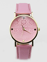 Girl Small Chrysanthemum Hollow Out Wrist Watch