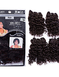 Kinky Curly Human Hair Weaves Brazilian Texture 200 8-10-12 Human Hair Extensions