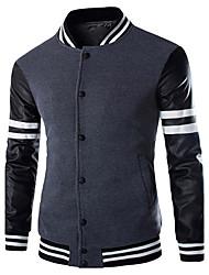 Men's Long Sleeve Jacket , Cotton Casual/Work/Formal/Sport