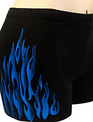 Men's Flame Printing  Boxer Swim Trunks