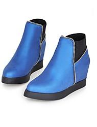 Women's Shoes Blue/Grey/Yellow/Almond Wedge Heel 3-6cm Boots (PU)