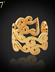 U7® Women's Adjustable Ring Platinum/18K Gold Plated Ring for Women 2015 New Fashon Jewelry Gift Wedding Ring