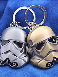 Unisex Fashion Jewelry Alloy Cosplay Star Wars Mask Pendant Key Chain Key Rings Key Buckle