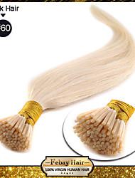 """18 """"rubio blanco (60 #) 100s pegan tip remy extensiones de cabello humano"""