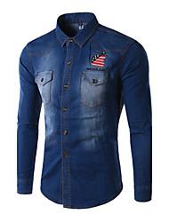 Men's  Apple Embroidered  Denim Jacket