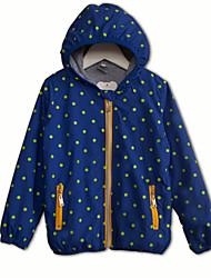 Boys' Spring Autumn Sweatshirt Long Sleeve Hooded Dot Zip Sweatshirts Cadigan (Cotton)
