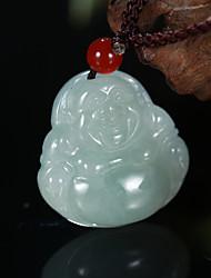 Exquisite Buddha Maitreya Natural Jade Pendant