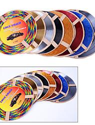 5 couleurs 4m / lot (volume) de sortie de voiture bricolage intérieur du climatiseur vent calandre chrome décoration bande de style