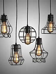 YL Chandeliers/Pendant Lights/Ceiling 5 LED Bulb With Iron Hanging Wire Minimalist Style