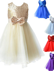 Kids Girl Pageant Dress With Paillette Princess Wedding Party Dress For Girl SZ 2-8 Y Evening Dresses
