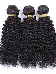 """3pcs / lot 8 """"-34"""" mongolian Afro verworrenes lockiges Haar unverarbeitete reine Haar-Menschenhaar spinnt natur schwarz"""