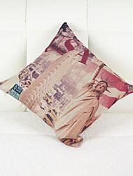 a estátua da liberdade capa de travesseiro decorativo (17 * 17 polegadas)