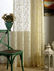 Country Curtains® One Panel Floral Jacquard Sheer Curtain Drape