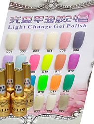 Light Change UV Gel Polish 12 ml Nails Manicure Art Nail 24 Colors For Choose