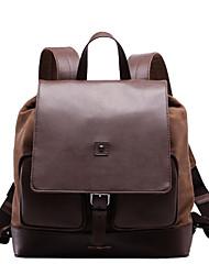 paño de Oxford de color caqui de cuero genuino diseño único mochila mensajera vintage original ocasional