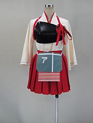 Вдохновлен Kantai Collection Акаги видео Игра Косплэй костюмы Косплей Костюмы Пэчворк Красный Короткиекимоно Пальто / нагрудный знак /