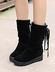 Women's Shoes Black/Brown/Almond Wedge Heel 3-6cm Boots (PU)