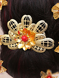 Bride's Flower Shape Crystal Forehead Wedding  Hair Combs Accessories 1 PC