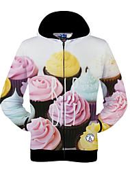 Men's Round Sweats & Hoodies , Cotton Blend Long Sleeve Casual Fall Power