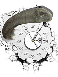 PAG®Modern Design 3D Effect Dinosaur Pattern Clock Sticker 14.96*15.98 in