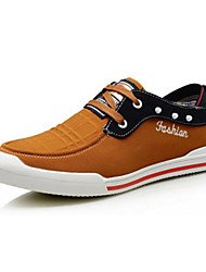 Men's Shoes Casual Fabric Fashion Sneakers Brown/Coral