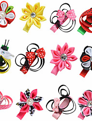 12 Pcs Animal Kanzashi Grosgrain Printing Ribbon Hair Bows Clips Hairbows Alliger Clip Accessories Handwear AC023