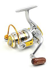 Molinetes de Pesca Molinetes Rotativos 5.2:1 10 Rolamentos TrocávelIsco de Arremesso / Pesca no Gelo / Rotação / Pesca de Água Doce /