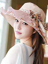 Women Cotton Blend/Linen Floppy Hat , Vintage/Party Summer Hats