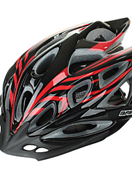 BaseCamp Ultra-light Integrally-molded Adjustable Bike Bicycle Helmet – Black + Red
