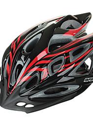 Capacete ( Vermelho/Preto , PC/EPS ) - Montanha - Homens N/A Aberturas Ciclismo/Ciclismo de Montanha/Ciclismo de Estrada/Ciclismo de Lazer