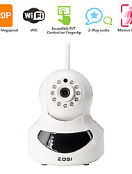 ZOSI HD@720P IP Camera 1.0MP Megapixel Wireless Wifi H.264 P2P Plug and Play Network CCTV Camera 10M IR Vision Pan&Tilt