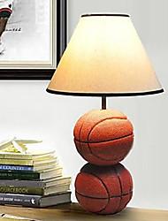 lámparas de escritorio resina 220v blanco baloncesto tela moderna